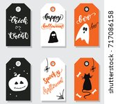Set Of Gift Tags For Halloween...