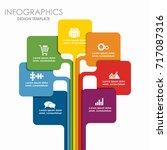 infographic template. vector... | Shutterstock .eps vector #717087316