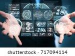 businessman on blurred... | Shutterstock . vector #717094114