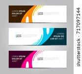 vector abstract design banner... | Shutterstock .eps vector #717097144