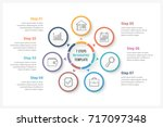 circle infographics template... | Shutterstock .eps vector #717097348
