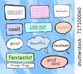 set of colorful speech bubble... | Shutterstock .eps vector #717100060