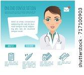 vector infographic. online... | Shutterstock .eps vector #717100903