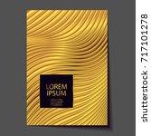 abstract gold glitter geometric ...   Shutterstock .eps vector #717101278