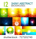 vector mega collection of shiny ... | Shutterstock .eps vector #717101740