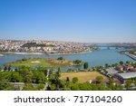 view of the golden horn bay... | Shutterstock . vector #717104260