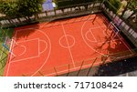 aerial view of the football... | Shutterstock . vector #717108424