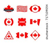 canada flag  logo design... | Shutterstock .eps vector #717109054