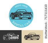 vintage car. black vector sign  ...   Shutterstock .eps vector #717111610