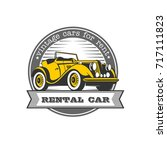 Vintage Cars For Rent. Yellow...