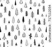 seamless pattern with different ... | Shutterstock .eps vector #717112054