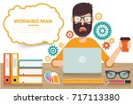 businessman concept design... | Shutterstock .eps vector #717113380