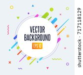 abstract vector background with ... | Shutterstock .eps vector #717118129