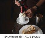 vienna coffee  popular... | Shutterstock . vector #717119239