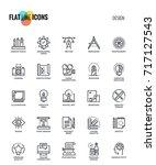 set of flat line graphic design ... | Shutterstock .eps vector #717127543