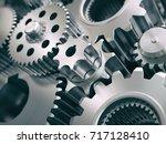 gears and cogwheels engine ...   Shutterstock . vector #717128410
