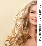 gorgeous hair. beauty fashion... | Shutterstock . vector #717128470
