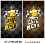 sports cafe menu cards set ... | Shutterstock .eps vector #717132199