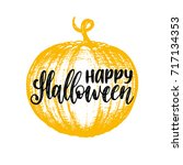 pumpkin vector illustration... | Shutterstock .eps vector #717134353