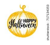 pumpkin vector illustration... | Shutterstock .eps vector #717134353