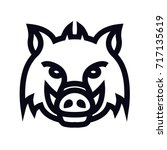 wild boar head sign | Shutterstock .eps vector #717135619