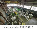 factory manufacturing of modern ... | Shutterstock . vector #717135910