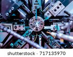 automatic cnc bending machine.... | Shutterstock . vector #717135970