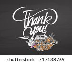 thank you decorative lettering... | Shutterstock .eps vector #717138769