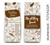 set of healthy food banner... | Shutterstock .eps vector #717141229