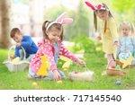 children having fun in park....   Shutterstock . vector #717145540