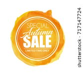 special autumn sale. vector... | Shutterstock .eps vector #717147724
