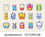 colored teenager school...   Shutterstock .eps vector #717149128