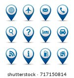 navigation and gps icon... | Shutterstock .eps vector #717150814