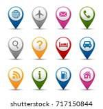 navigation and gps icon... | Shutterstock .eps vector #717150844