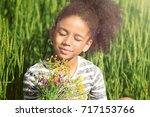 Little Afro American Girl With...