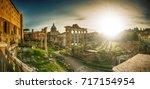roman forum ancient culture... | Shutterstock . vector #717154954