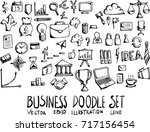 set of business doodle... | Shutterstock .eps vector #717156454