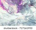 cold blue winter pattern with... | Shutterstock . vector #717161953