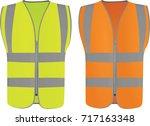 safety vest. vector illustration | Shutterstock .eps vector #717163348
