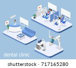 isometric 3d isolated concept... | Shutterstock . vector #717165280