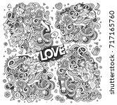 sketchy vector hand drawn...   Shutterstock .eps vector #717165760