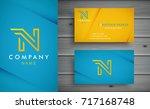 n letter logo design with