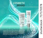 3d realistic cosmetic bottle...   Shutterstock .eps vector #717170578
