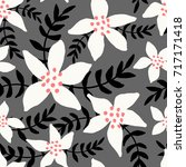 winter seamless pattern with... | Shutterstock .eps vector #717171418
