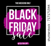 abstract black friday sale... | Shutterstock .eps vector #717171544