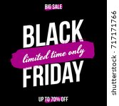 abstract black friday sale... | Shutterstock .eps vector #717171766