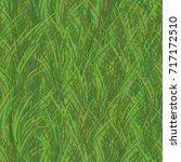 green grass seamless pattern... | Shutterstock .eps vector #717172510