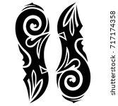 art tribal tattoo designs. | Shutterstock .eps vector #717174358