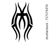tattoo tribal vector design.... | Shutterstock .eps vector #717174370