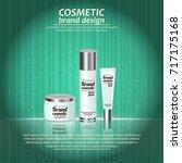 3d realistic cosmetic bottle... | Shutterstock .eps vector #717175168